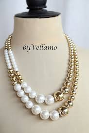large pearl necklace images Huge statement design necklace large faux pearl necklace white jpg