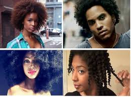 black wiry hair writing with color describing natural hair
