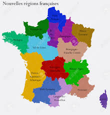 Alsace Lorraine Map New French Regions Nouvelles Regions De France Separated