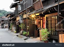 takayama japan october 10 traditional japanese stock photo