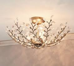 Pottery Barn Ceiling Light Astounding Flush Mount Chandelier Flushmount Pottery Barn