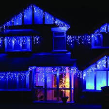look of blue and white outdoor lights