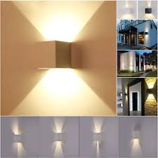 square up down light 7w modern square led wall light up down cube indoor outdoor sconce