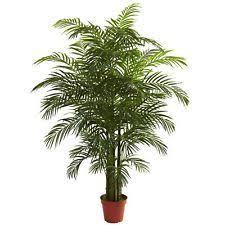 two 8 foot artificial palm tree pot arrangement bamboo