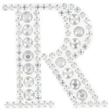 rhinestone letter stickers this acid free acrylic clear rhinestone sticker letter r