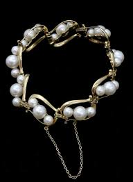 pearl bracelet with yellow gold images Authentic vintage mikimoto pearl bracelet 14k yellow gold 5mm 7mm jpg