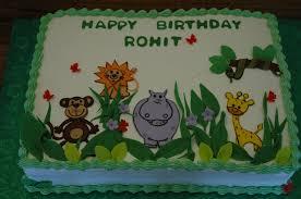 jungle theme cake animals safari sheet cake jungle theme green color