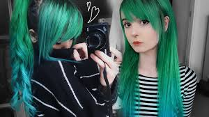Forest Green by Dying My Hair Forest Green With Blue Ombre Youtube