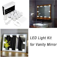 Makeup Vanity With Lights Amazon Com Hollywood Style Led Vanity Mirror Lights Kit For