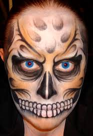 Awesome Scary Halloween Costumes Cool Face Paint Designs 20 Cool Scary Halloween Face