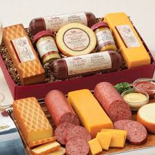 hickory farms summer sausage and cheese gift boxhickory farms