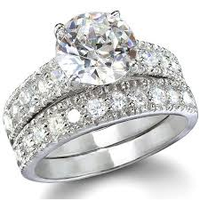 wedding ring sets for s vintage style cubic zirconia wedding ring set