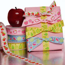 printed grosgrain ribbon fruit printed grosgrain ribbon