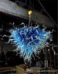 Teal Glass Chandelier Medusa Style Blue Blown Glass Chandelier European Style Modern Art