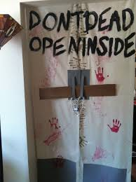 don u0027t open dead inside the walking dead door decor halloween