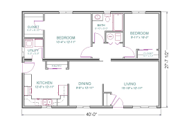 How Big Is 1100 Square Feet 1500 Sq Ft House Plans Open Floor Plan 2 Bedrooms The Lewis