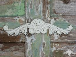 shabby chic deco chic mouldings shabby large art deco pediment