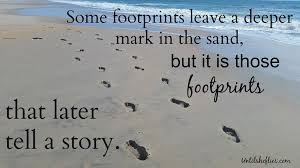 until she flies footprints in the sand