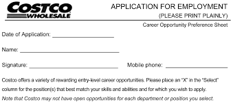 Job Description For Hair Stylist Costco Job Application Printable Job Employment Forms