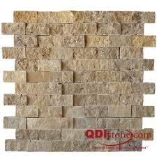 Split Face Stone Backsplash by Noce Travertine Split Face Tile Qdisurfaces