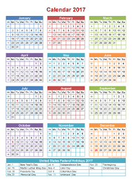 2017 calendar printable with us holidays free calendar 2017 2018