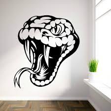 vinyl snake head wall art sticker free shipping home decor wall