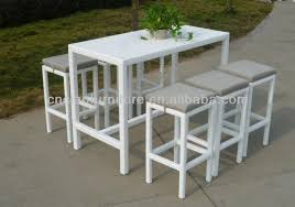 outdoor bar height table and chairs set gorgeous tall outdoor table a dubai pub set white long regarding