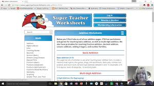 super teacher worksheets site youtube