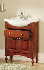 Shallow Bathroom Cabinet Small Narrow Vanity Favorite 26 Inch Single Sink Narrow Depth