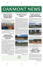 september 1st edition of the oakmont news by oakmont village issuu