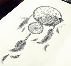 dreamcatcher roses feathers by pokiha drawings