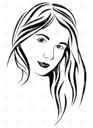 hair clipart pretty lady pencil and in color hair clipart pretty