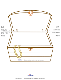 treasure chest outline kids coloring free kids coloring