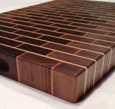 walnut brick style end grain cutting board zoom