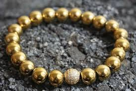 men beads bracelet images Boybeads 10mm gold hematite sterling silver pave cz beaded jpg