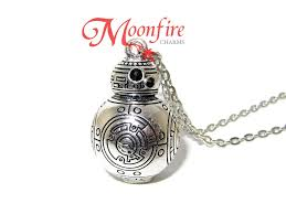 silver photo pendant necklace images Star wars bb 8 silver pendant necklace moonfire charms jpg
