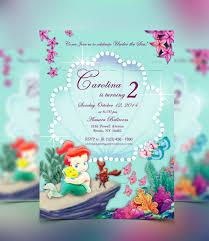 little mermaid invitation template eliolera com