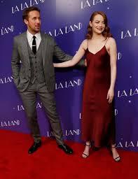 ryan gosling emma stone couple film la la land stars emma stone and ryan gosling glam up for london