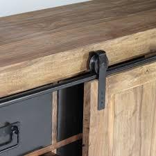 meuble de cuisine avec porte coulissante buffet industriel porte coulissante bois naturel made in meubles