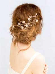 gold hair accessories gold copper floral bridal hair vine headband chrissy