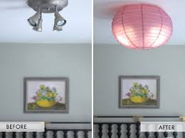 Diy Ceiling Lights Diy Flush Mounted Paper Ceiling Shade