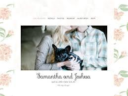 wedding websites registry free designer wedding websites