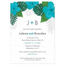 Wedding Invitations Under 1 Tropical Blooms Plantable Wedding Invitation Plantable Wedding