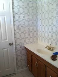 wallpapered bathrooms ideas darcy white wallpaper circle wall coverings by graham brown