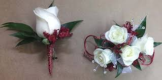 Corsage And Boutonniere Set Red And White Corsage And Boutonniere Set In Smyrna Ga Floral