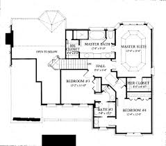 colonial style house plan 4 beds 3 50 baths 2400 sqft 429 33