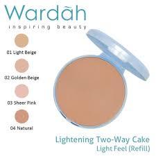 Bedak Za jual refill bedak dan foundation wardah lightening light feel two
