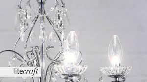 vara 5 light chrome bathroom chandelier litecraft lighting