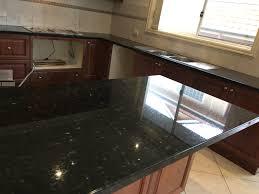 emerald pearl granite kitchen and vanity install granite
