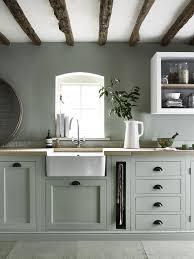 hand painted kitchen cabinets henley kitchen hand painted in sage great idea for pull out towel